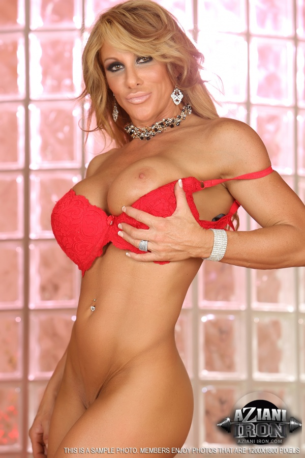 Aziani Iron naked female bodybuilder muscle women