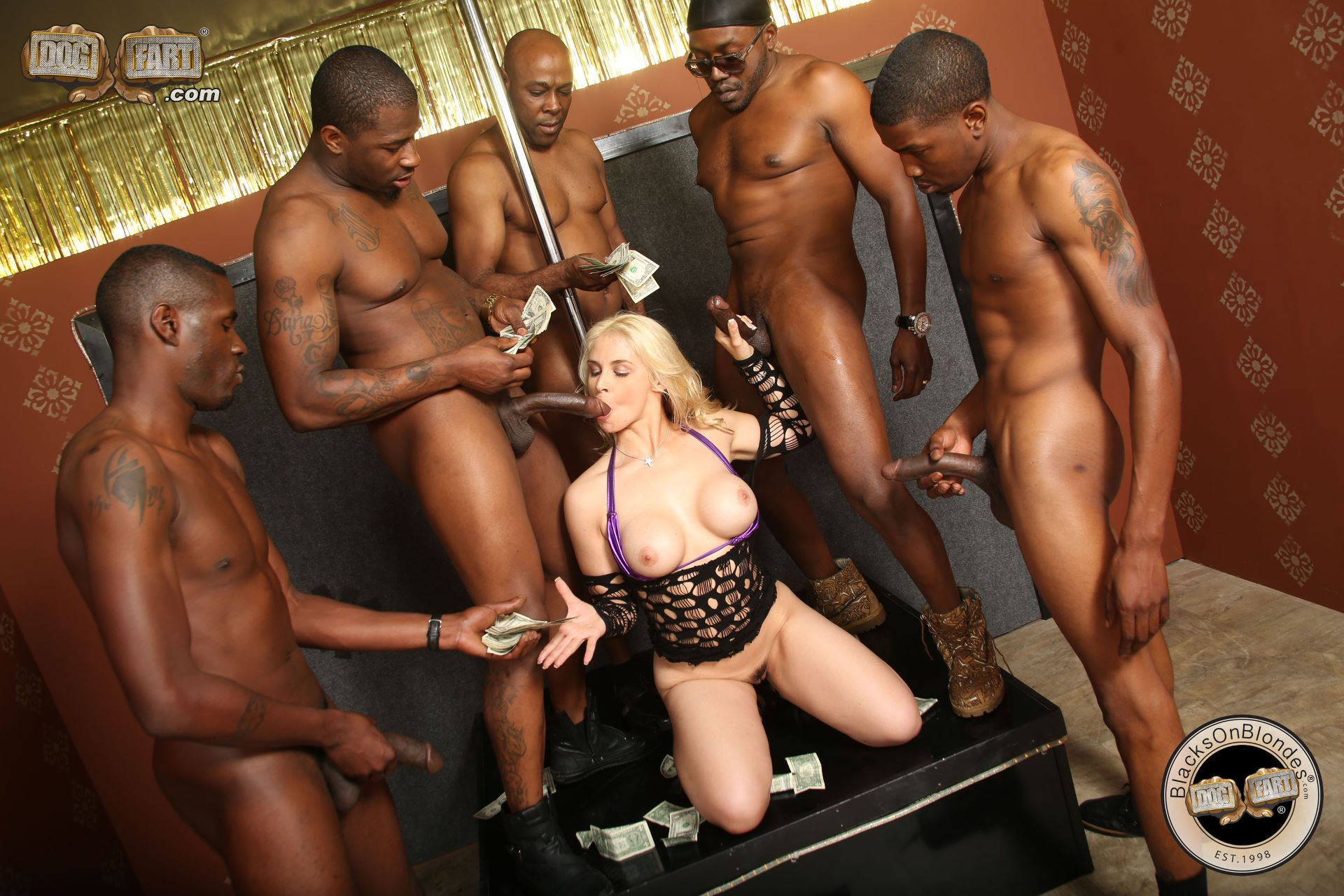 Rough Black Girl Gangbang