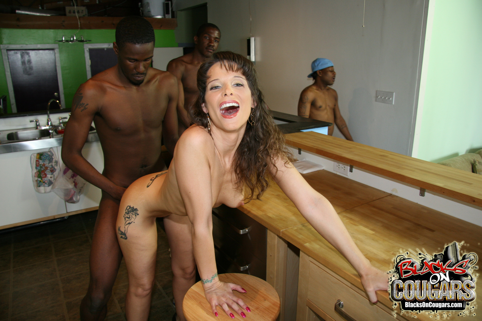 Wife gangbang white cock mature black
