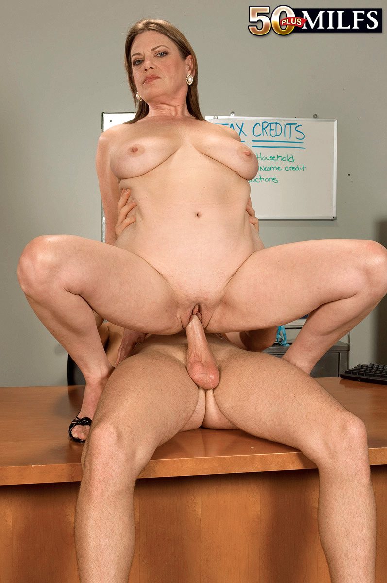 Mature sex milf office