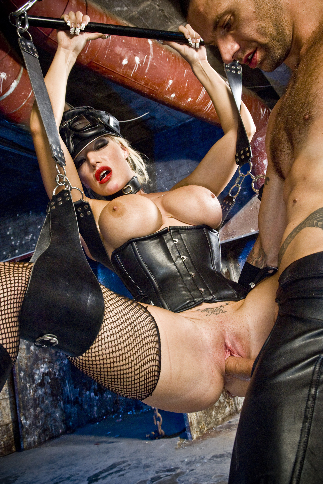 Latex chaps on hot slut