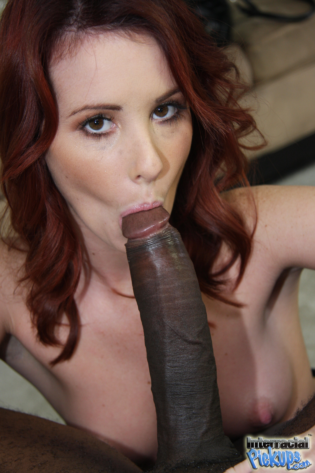 Cock redhead mature sucks black