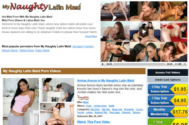 My Naughty Latin Maid